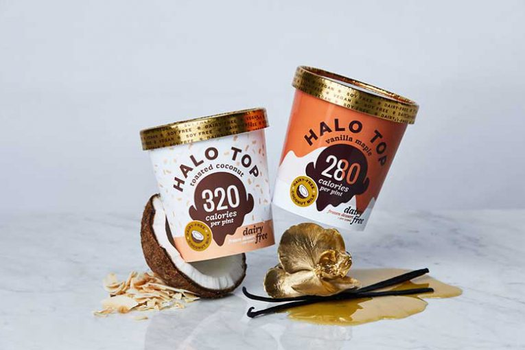 Halo Top's Vanilla Maple and Toasted Coconut flavors.