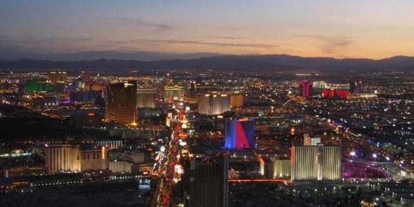 Las Vegas, Nevada, skyline.