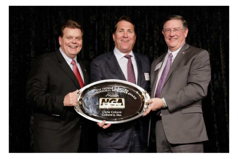 Rick Brindle, Mondelēz International; Chris Coborn, Coborn's Inc.; and Peter Larkin, NGA.