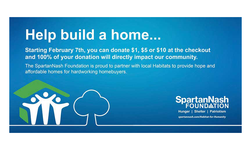 SpartanNash Raising Money For 50+ Habitat For Humanity Partners
