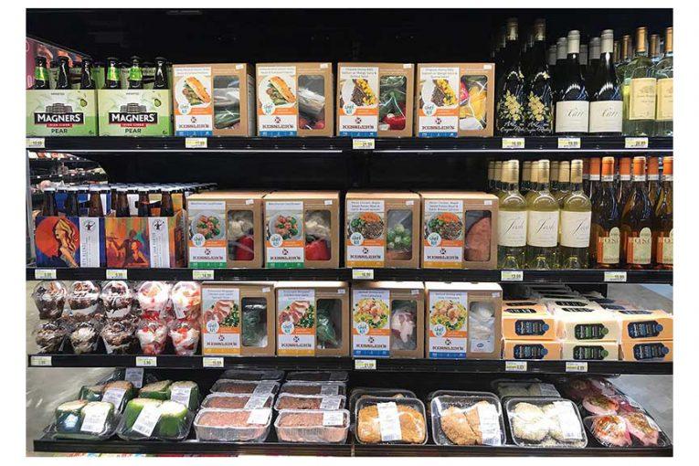 Kessler's Chef Kit meal kits on display