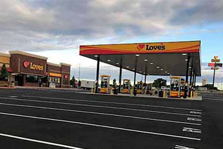 Love's new location in Alma, Texas.