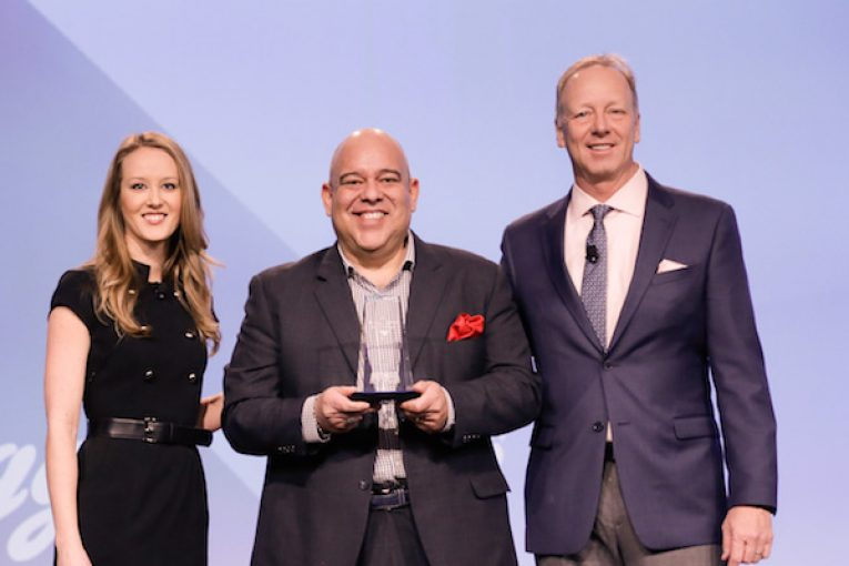 Alison Castillo, Unilever; Rob Ybarra, Lowe's Market; Dave Jones, Kellogg.