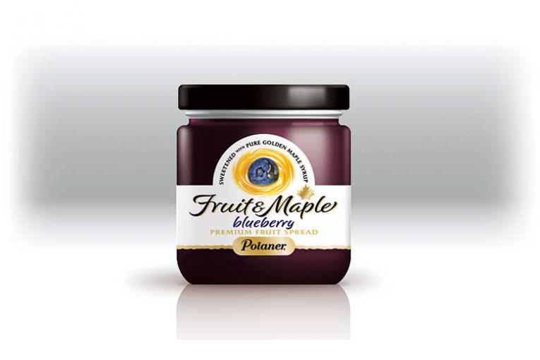 Polaner Fruit & Maple blueberry flavor