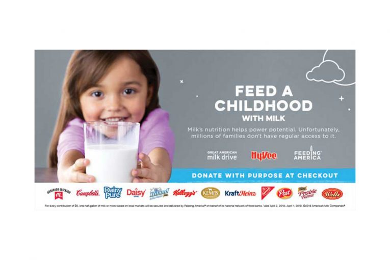 Hy-Vee milk drive promotion