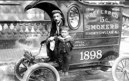 Jeff Polep's great-grandfather Charles Polep and his grandfather Samuel Polep as a youngster.