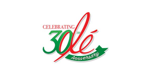 Olé Mexican Foods 30th anniversary logo