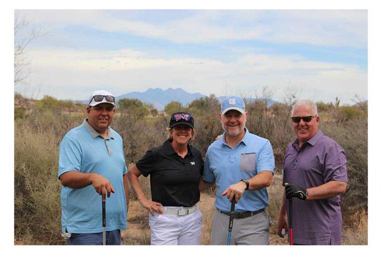 Nick Rodriguez, Breakthru Beverage Arizona; Lori Raya, Albertsons Cos.; Steve Zawisa, Breakthru Beverage Arizona; and Frank Cannistra, Albertsons Cos.