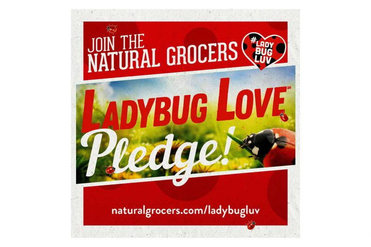 Natural Grocers Earth Day ladybug pledge marketing