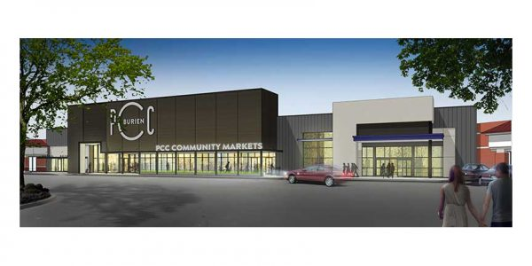 A rendering of the Burien store.
