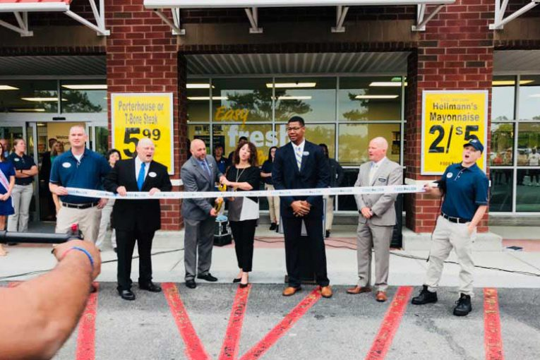 A ribbon cutting at one of the new South Carolina Food Lion stores