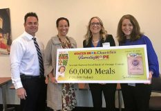 In January 2018, Stater Bros. Charities donated 60,000 meals—valued at $20,000—to the Second Harvest Food Bank of Orange County.