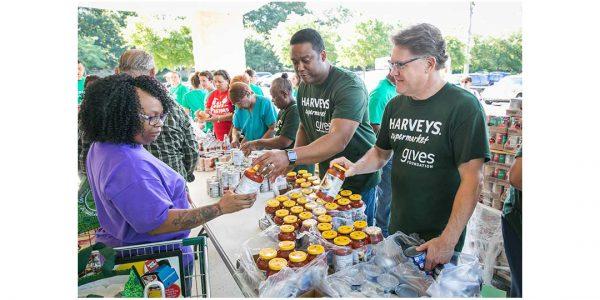 A Harveys hunger relief event