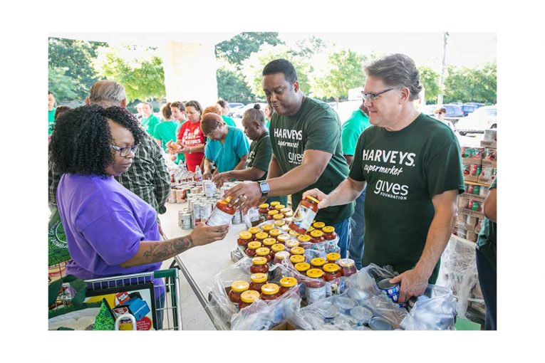 A Harveys hunger relief event