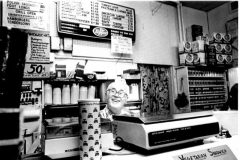 "John Alberhasky seated in the store's deli in the 1980s. ""My grandpa always said, 'I'll retire when I die,' and that's pretty much what he did,"" said Doug Alberhasky."