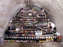 A photo from 2004, when one of each variety of beer offered by John's Grocery was stacked in a cave below the store.