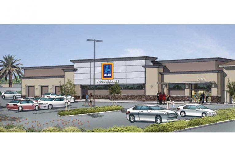 A rendering of the new Aldi