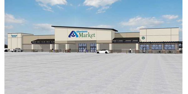 A rending of the new Carlsbad Albertsons Market store