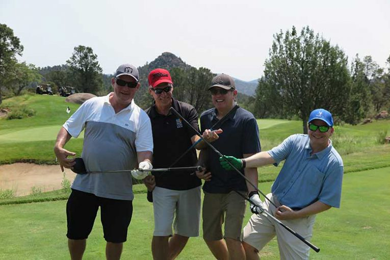 Golfers at AFMA's summer golf classic