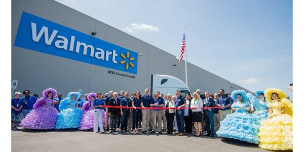 The grand opening of Walmart's Mobile, Alabama, distribution center
