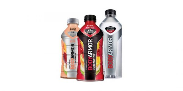 Bottles of BodyArmor drinks