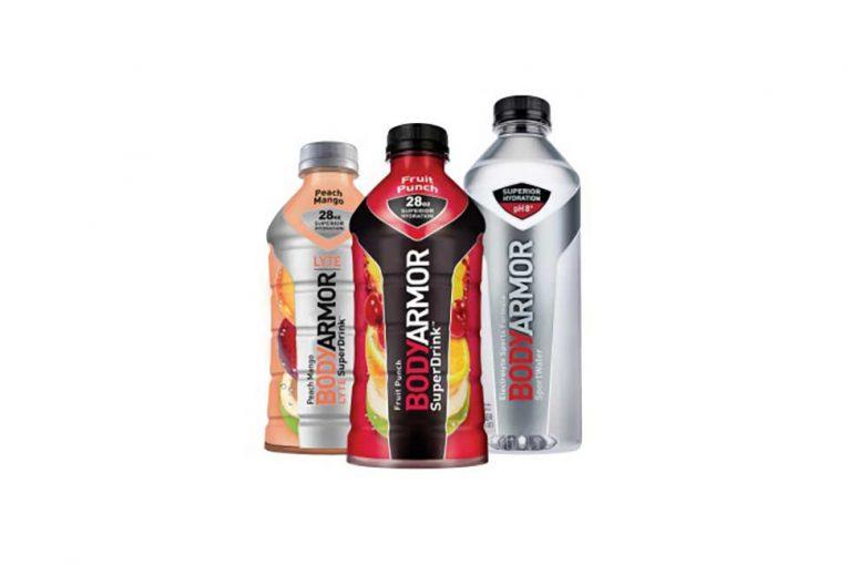 Bottles of BodyArmor drinks