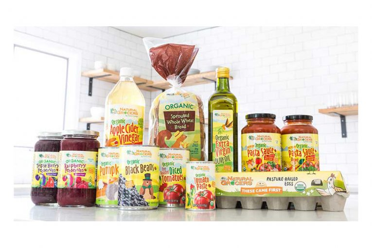 Natural Grocers brand products on a counter