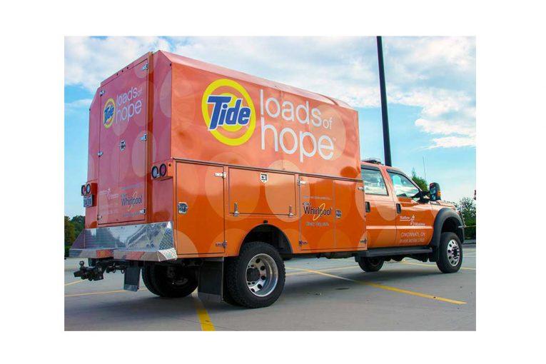 Tide's mobile laundry truck