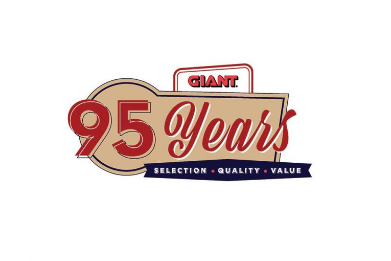 Giant's 95th anniversary logo.