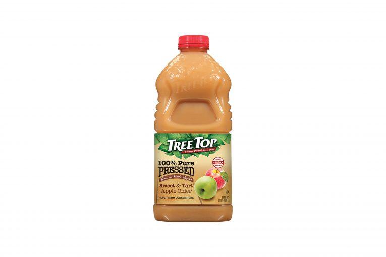A bottle of Tree Top Apple Cider