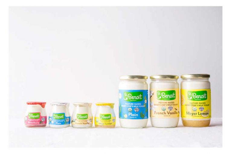 St. Benoit products with the new branding