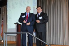 Danny Babb receives the Wholesaler of the Year award from D'Amico.
