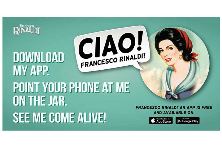 An ad for the new Francesco Rinaldi app
