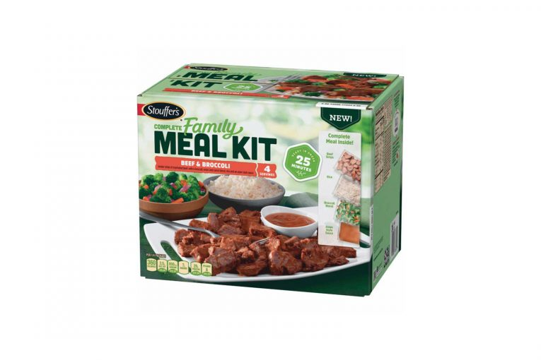 Stouffer's beef and broccoli meal kit.