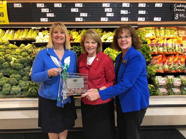 Pfuhl; Minnesota Sen. Mary Kiffmeyer (R-Big Lake); Cub Foods store manager Paula Schmitz.