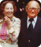Pictured are Chex Finer Foods company founders Jay and Dorothy Isenberg.
