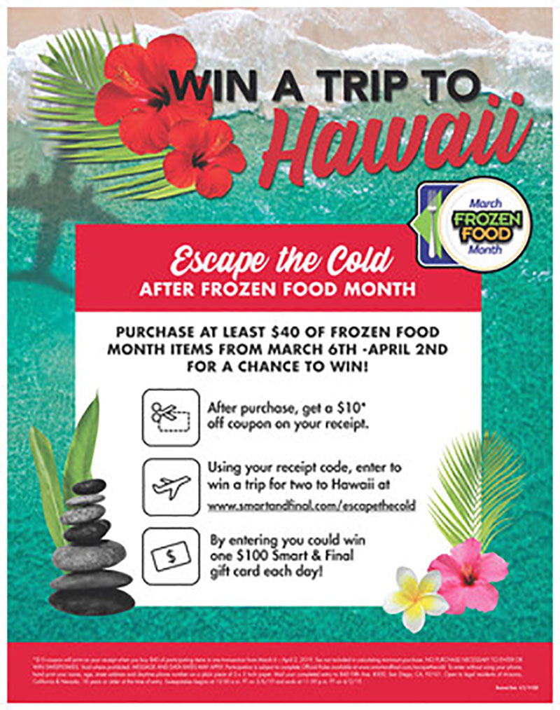 Smart & Final Escape the Cold Sweepstakes