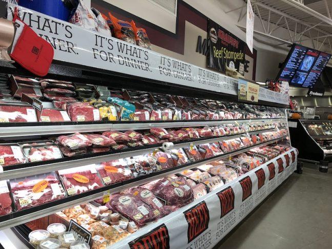 Krause's 24-ft. beef display.