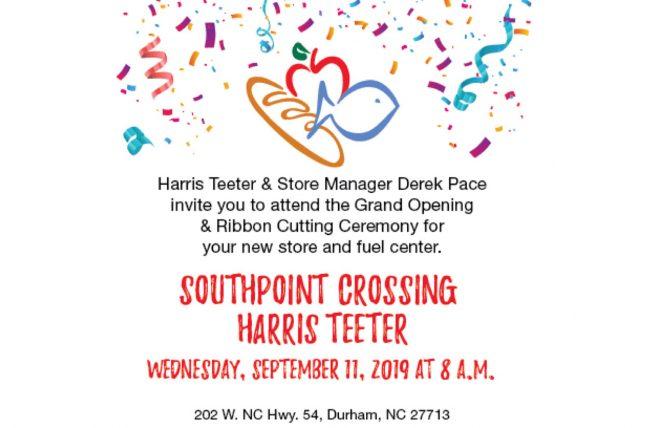 Harris Teeter grand opening info